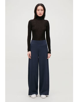 Cotton Wool High Waist Trousers by Cos