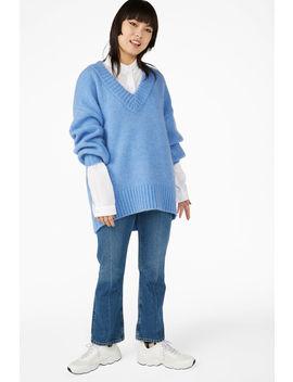 Soft V Neck Sweater by Monki