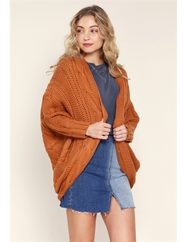 Open Front Knit Cardigan by Papaya