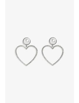 Embellished Heart Earrings by Monki