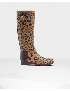 "<Span Itemprop=""Name"">Women's Original Hybrid Print Refined Tall Wellington Boots</Span>:                     <Span>Tenné/Rosso Scuro</Span> by Hunter"