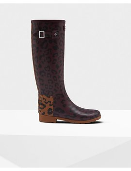 "<Span Itemprop=""Name"">Women's Original Hybrid Print Refined Tall Wellington Boots</Span>:                     <Span>Rosso Scuro/Selva</Span> by Hunter"