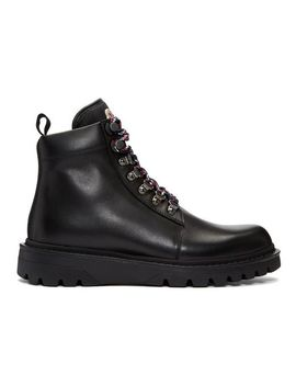 Men's Black Isaac Lace Up Boots by Moncler