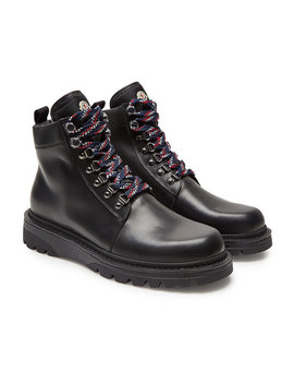 Isaac Leather Ankle Boots by Moncler