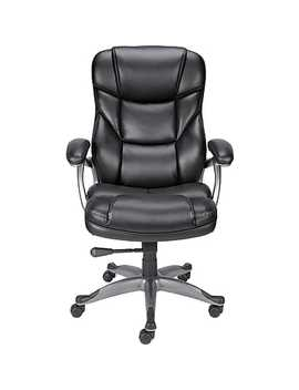 Staples® Osgood™ Bonded Leather Manager's High Back Chair, Black by Staples