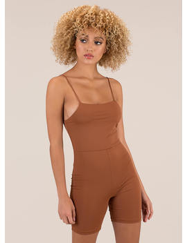 Curve Appeal Solid Leotard Romper by Go Jane