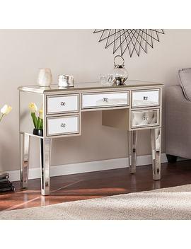 southern-enterprises-mirage-glam-mirrored-console-&-desk,-champagne-(cm8046) by southern-enterprises