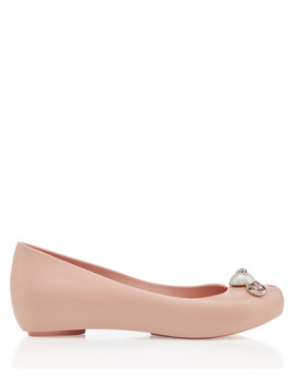 Ultra Girl Blush Ballet Flats by Vivienne Westwood Melissa Shoes