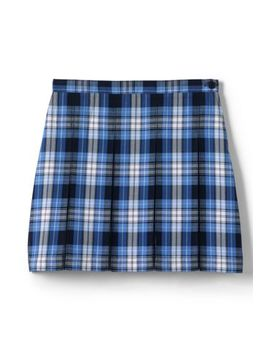 School Uniform Girls Plaid Box Pleat Skirt Top Of The Knee by Lands' End