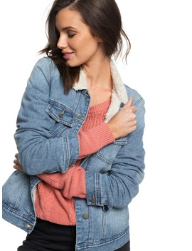 Sandy Sherpa Lined Denim Jacket by Roxy
