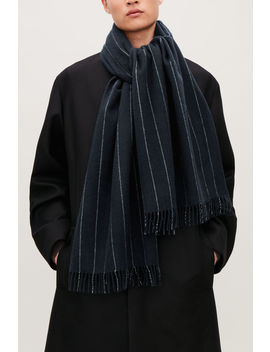 Striped Wool Scarf by Cos