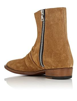 Skinny Stack Suede Ankle Boots by Amiri