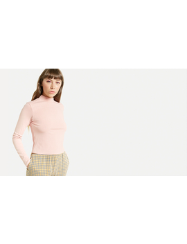 Pink Funnel Neck Rib Top by Nobody's Child