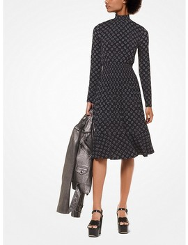 Foulard Print Matte Jersey Dress by Michael Michael Kors
