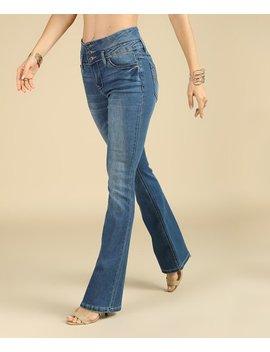 Medium Dark Wash High Waist Bootcut Victoria Jeans   Women &Amp; Plus by Zulily