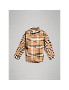 Button Down Collar Vintage Check Shirt by Burberry