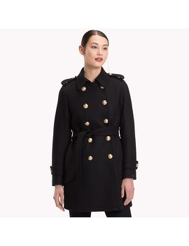 Double Breasted Wool Trench Coat by Tommy Hilfiger