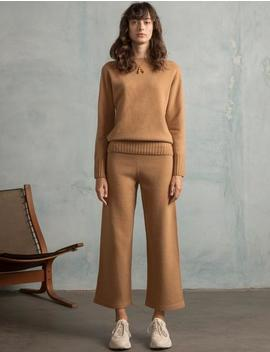 Brown Knit Matching Sweater And Pant Set by Pixie Market