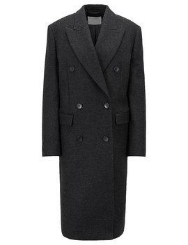 Double Breasted Coat In An Italian Wool Blend by Boss