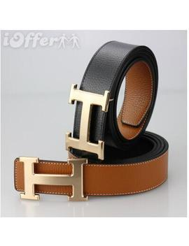 Fashion Hermelied Women And Men Leather Belt by I Offer