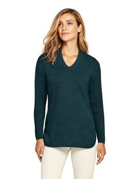 Women's Classic Cashmere V Neck Sweater by Lands' End