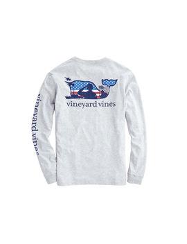 Adult Long Sleeve Veterans Day Pocket T Shirt by Vineyard Vines