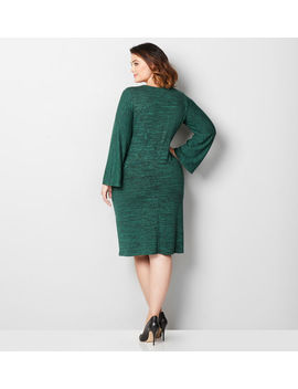 Embroidered Hacci Sheath Dress by Avenue