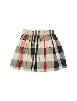 Burberry Girl's Check Skirt by Burberry