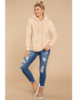 Cozy Up To Someone Beige Wubby Sweatshirt by Staccato