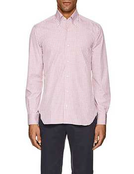 Checked Cotton Button Down Shirt by Sartorio