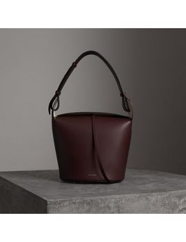 The Medium Leather Bucket Bag by Burberry