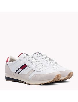 Retro Suede Running Trainers by Tommy Hilfiger