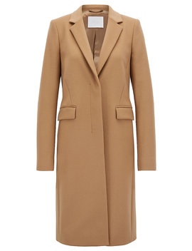 Blazer Style Coat In Italian Virgin Wool And Cashmere by Boss