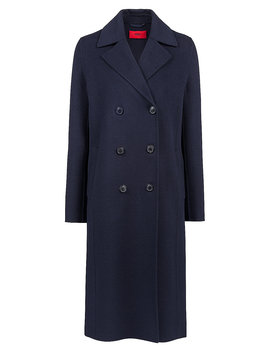 Double Breasted Coat With Notch Lapels by Boss