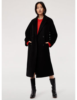 Jerome Wool Coat   Oversized, Wool Double Breasted Coat by Babaton