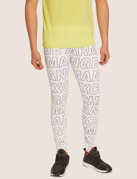 Allover Logo Print Legging by Armani Exchange