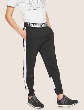 Logo Print Side Stripe Sweatpant by Armani Exchange