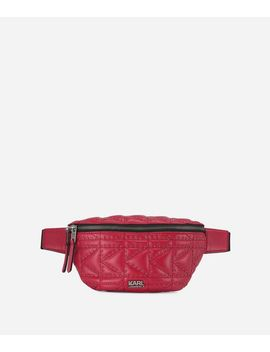 K/Kuilted Studs Leather Belt Bag by Karl Legerfeld