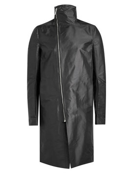 Coat With Asymmetric Zipper by Rick Owens