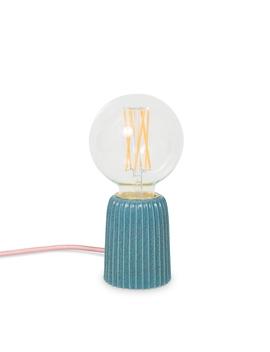 Lecia Ceramic Teal Table Lamp by Olivar Bonas