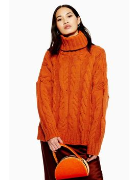 Chunky Cable Roll Neck Jumper by Topshop