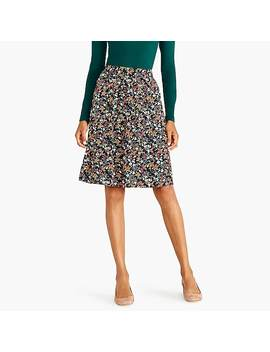 Printed Midi Skirt by J.Crew