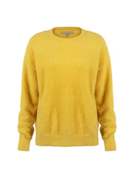 Gloss Fluffy Yellow Jumper by Olivar Bonas