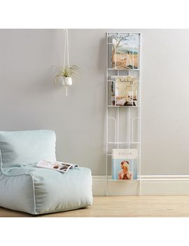 Wall Leaning Wire Magazine Rack by P Bteen