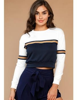 Striped Detailed Sweatshirts by Papaya