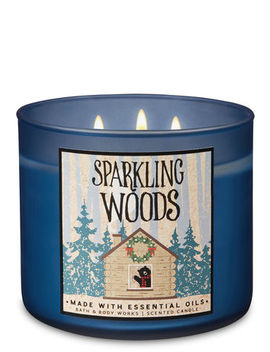 Sparkling Woods   3 Wick Candle    by Bath & Body Works