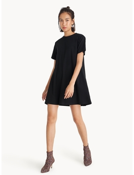 Mini A Line Round Neck Dress by Pomelo