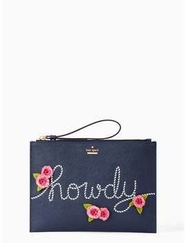 Wild Ones Howdy Medium Bella Pouch by Kate Spade