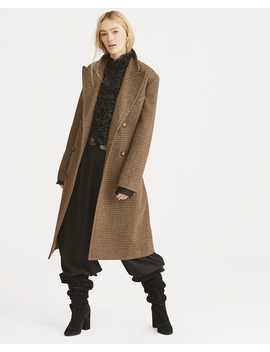Glen Plaid Wool Trench by Ralph Lauren