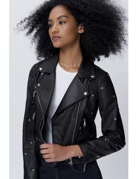 Wes Moto Jacket With Star Studs by Rebecca Minkoff